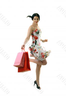 happy beautiful shopper