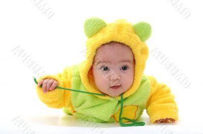 crawling toddler