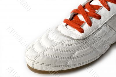 half sport shoe isolated on the white background