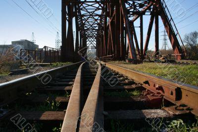 railway bridge, rails