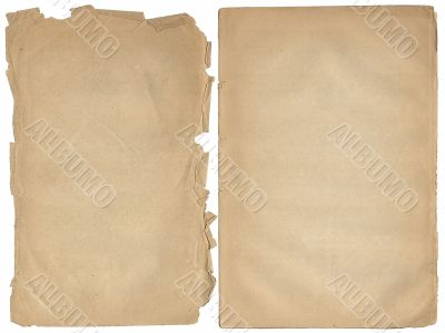Two shabby blank pages