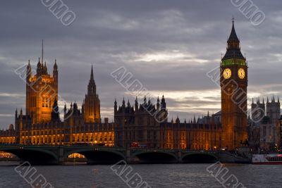London skyline at sunsent