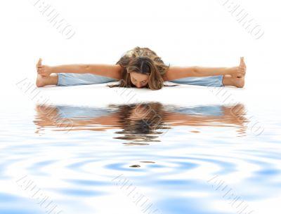 ashtanga yoga on white sand 3
