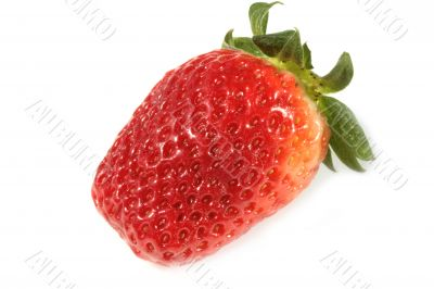 strawberries on white background - close up on texture
