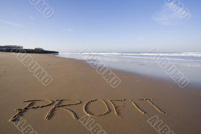 Profit word