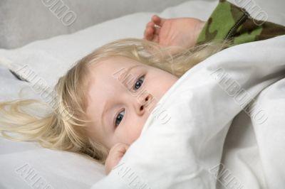 girl falling asleep