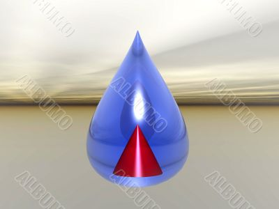 droplet with pyramid