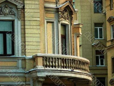 Balcony of an architectural building