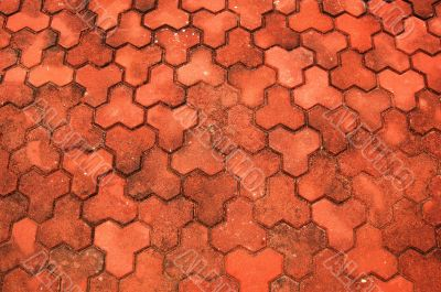 red brick pavement background