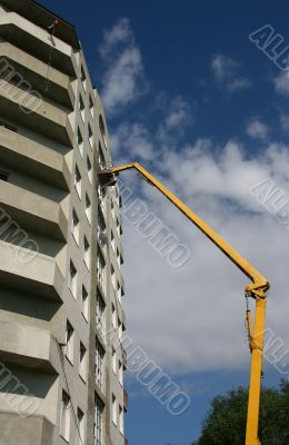 Construction of a building.