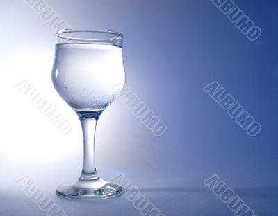 Goblet on blue