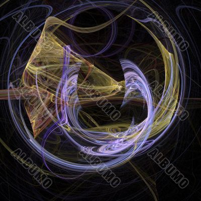 Abstract ribbon arc background design