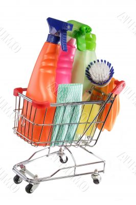 Shopping cleaning supplies