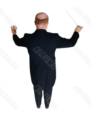 The conductor of an orchestra