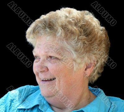 Cheery Senior Lady Profile