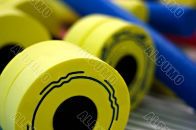 close-up dumbbell