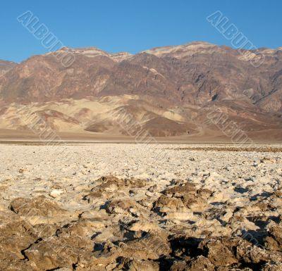Devil`s Golf Course, Death Valley, California