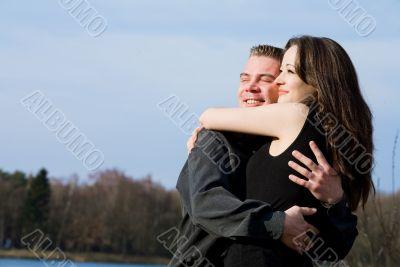 Couple enjoying the sunlinght