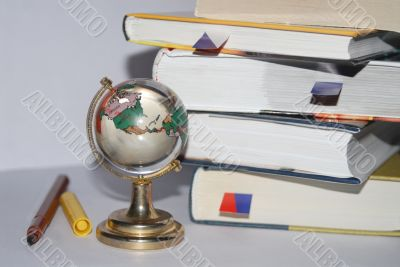 Book with a globe