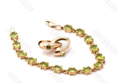 bracelet with ear-rings