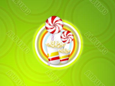 popcorn lolly candy circle