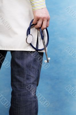 young caucasian doctor
