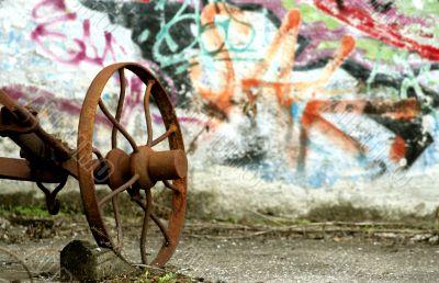 Graffiti and old tools