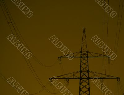 Stream Mast At Night