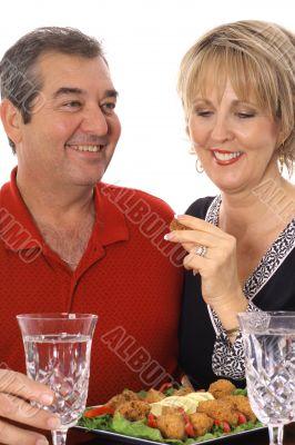 couple having appetizers