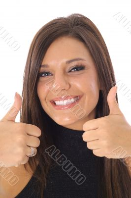 thumbs up model vertical