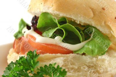 Ham And Salad Roll 10
