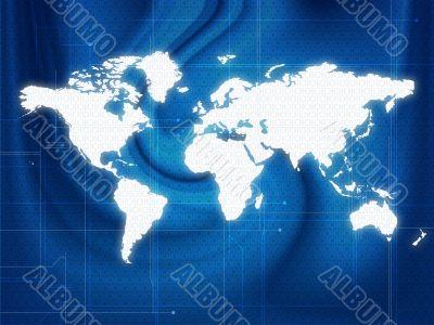 World map techno