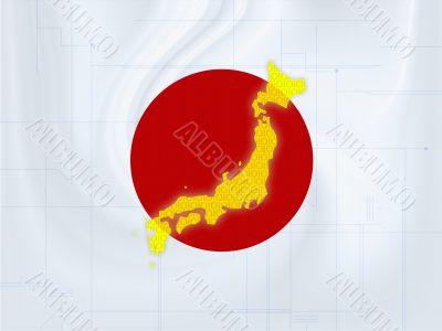 Japan map techno