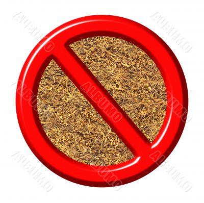 3d anti tobacco sign