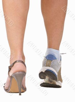 A woman`s legs