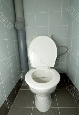 white clean toilet