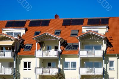 house with solar cell