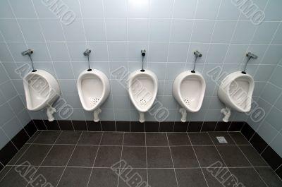 white toilets