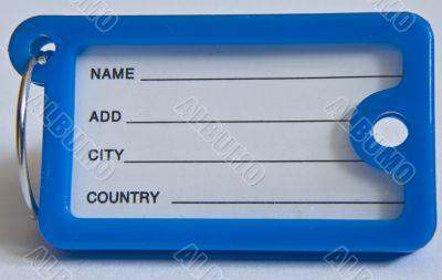 Name-tag blue