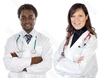 Couple of young doctors
