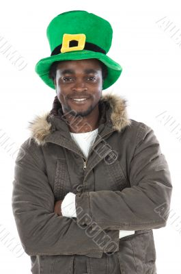 African American with saint patrick