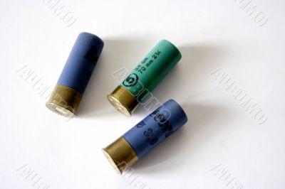 three patrons for hunt handgun