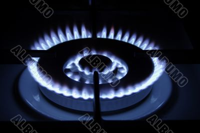 gas burner on neutral background