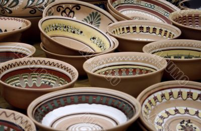 Traditional Ukrainian Pottery on the Market