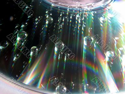 cd disc with bubbles