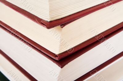 Pile of books isolated on a white