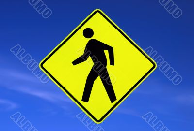 Pedestrians road sign