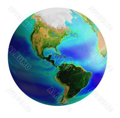 globe, america