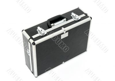 Black case with metal latches