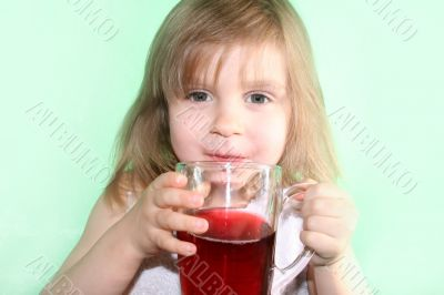 girl with a cup of drink